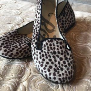 Roxy Faux Fur Slip-on Animal Print Ballet Flats